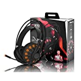 SOMIC G932 USB PC Gaming Headset 7.1 Virtual Surround Sound,Over Ear Computer Gaming Headphones With LED lighting and Retractable Microphone For Sale