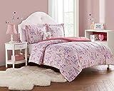 Unbranded Mini DEC PAR-F Paris Girl 4pc Comforter Set, Full, Pink/Coral-Blush