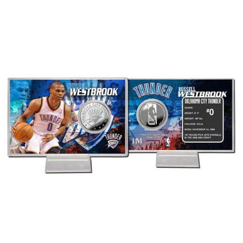 NBA Russell Westbrook Oklahoma City Thunder Player Silver Coin Card