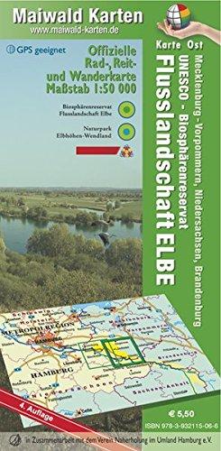 Elbetal Ost = Offizielle Rad-, Reit u. Wanderkarte - UNESCO - Biosphärenreservat Flusslandschaft Elbe - Karte Ost: Maßstab 1:50.000 - GPS geeignet - ... - Maßstab 1:50.000 - GPS geeignet)