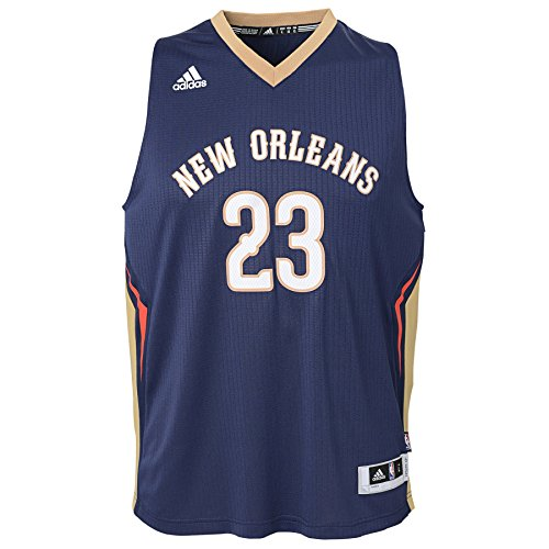 NBA New Orleans Pelicans Anthony Davis Boys Player Swingman Road Jersey, Large (14-16), Dark Navy