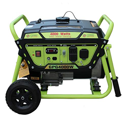 Green-Power America GPG4000W 4000W Pro Series Recoil Start Generator ()