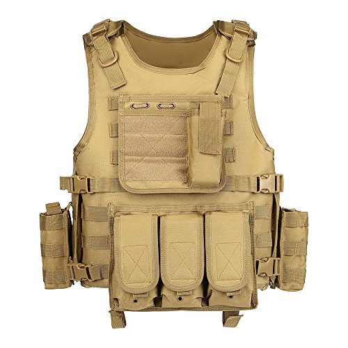 GZ XINXING Black Tactical Airsoft Paintball Vest (Khaki)