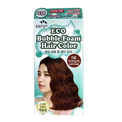 Somang Eco Bubble Foam Hair Color [ Natural Brown N6 ] 8 Mins