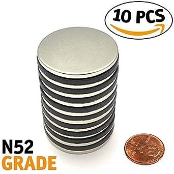 Imanes de neodimio | grado N52 imán de disco | más fuerte flujo magnético de tierras