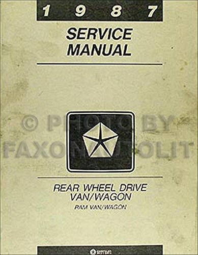 1987 Dodge Ram Van and Wagon Repair Shop Manual Original B150-B350 -
