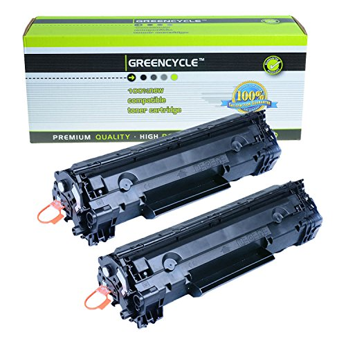 greencycle 2 Pack Generic Canon 126 3483B001 Black Toner Cartridges For ImageClass LBP6200d