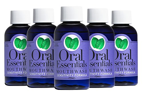 Oral Essentials Sensitivity Travel Size Formula Mouthwash Pack of Six 2 Oz. For Less Tooth and Root Sensitivity