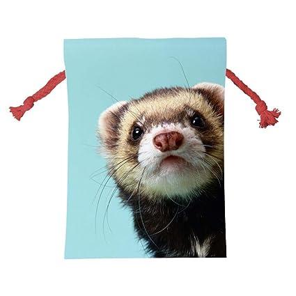 Christmas Ferret.Amazon Com Tolbert Wisfins Drawstring Christmas Bag