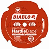 Freud D0704DH Diablo 7-1/4-Inch-by-4 Tooth Polycrystalline Diamond Tipped TCG Hardie Fiber Cement Saw Blade with 5/8-Inch Arbor