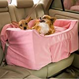 Snoozer Large Luxury Lookout II Pet Car Seat, Pink/Pink Microsuede