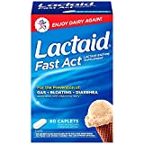 Lactaid Fast Act Lactase Enzyme Supplement - 60 Caplets, Pack of 4