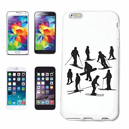 caja del teléfono Huawei P9 Invierno silueta Snowboard PISTAS Caso duro de la cubierta Teléfono Cubiertas cubierta para el Apple iPhone en blanco