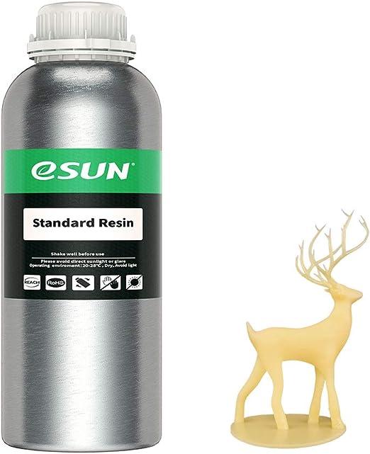 eSUN光造形3Dプリンタ専用レジンUV樹脂405nm光硬化可能汎用樹脂LCDPhoton等の3Dプリンタ用1000ml(イエロ)