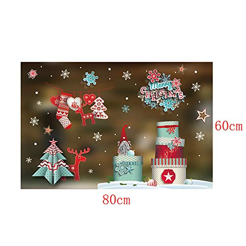 DIY pgojuni Christmas Creative Carving Can Remove Personality Wall Stickers Removable Wallpaper Home Decor 1PC (J) by Pgojuni_Wallpaper (Image #2)