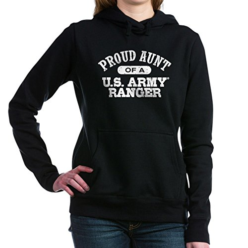 CafePress - Army Ranger Aunt - Pullover Hoodie, Classic & Comfortable Hooded Sweatshirt Black