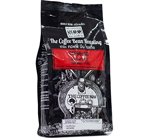Espresso Fresh Roasted Whole Beans Coffee, Wet process & Dry process 250 g.
