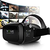 Kaotoer 3D VR Glasses VR Headset Movie Visor 3D Vr Virtual Reality Glasses Innovative Design Fit for iOS and Android Smartphones Within 3.5-6 Inches