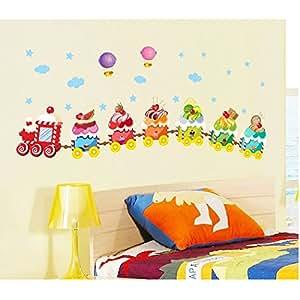 H tres vivid color ice cream tren para pared dormitorio - Amazon decoracion pared ...