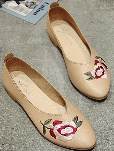Satuki Cuir Slip Chaussures Main En Faits Sur Pour Mocassins Femme tW6t8PZwq