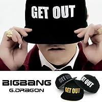 激安GDスタイル/ジヨン/CAP/GET OUT/帽子キャップ/メンズ/レディース/キャップ/帽子/getout [GD/G-Dragon/Bigbang]BIGBANG/ビッグバン/GETOUT/ヒップホップ/ダンス/ニューエラスタイル