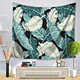Baisheng Indian Mandala Wall Hanging Tapestry Hippie Tapestries Bedding Bedspread, Picnic Beach Sheet, Table Cloth, Decorative Wall Hanging (Palm leaf letter stripe print6-51x59 Inch/130x150 CM)