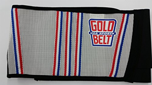 "UPC 682821825309, The Original GOLD BELT ""Cool One"" motorcycle kidney belt (White/red/white/blue)"