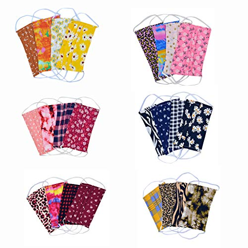 4/5PCS Light Weight Unisex Adult Fashion Face Covering, Reusable, Dust Proof,Washable,Cool 5 Mixed Colors Fast Shipping