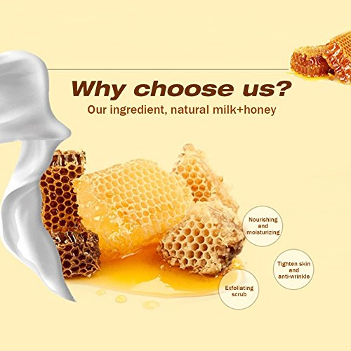 XY Fancy Hands Care ParaffinMilk & Honey Moisturizing Peel Off Hand Wax MaskExfoliate Hydrating Exfoliating Nourish Whitening Hand Mask Skin Care 150g by XY Fancy (Image #2)