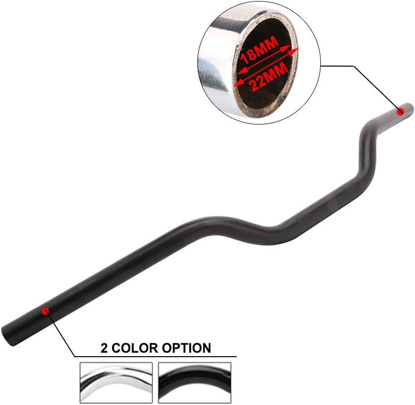 7//8 22MM Drag Tracker Handlebars Handle Bars Universal For Harley Sportster XL 883 1200 Bobber Custom Chopper Softail Dyna Euro Style,Chrome