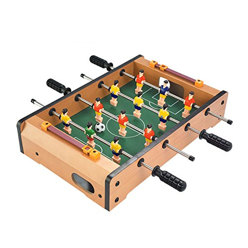 JFA 14 Inch Soccer Table Football Board Game Kids Toy Family Party Games Wood Toy Portable Travel Tabletop Football Set by JFA