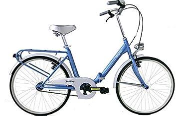 "Bicicleta 24"" Plegable Modelo Graziella 1 velocidad, Color Azul"