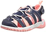 Carter's Christo Unisex Athletic Fisherman Sandal, Navy/Orange, 8 M US Toddler