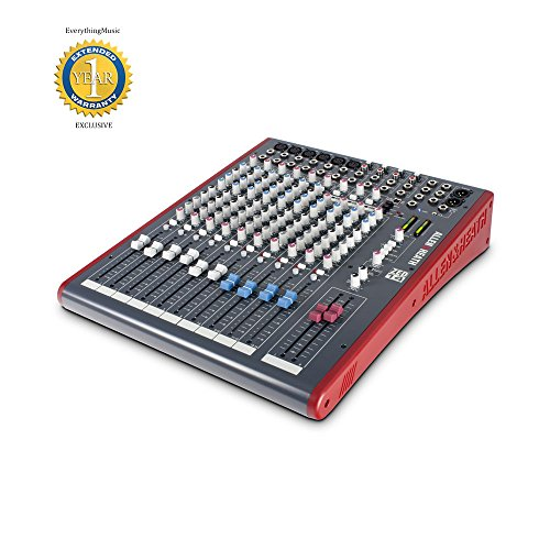 Allen & Heath ZED14 14-Channel Recording and Live Sound Mixer with 1 Year Free Extended Waranty (Mixer Heath Zed 14)
