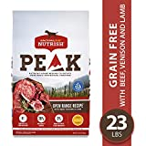 Rachael Ray Nutrish PEAK Natural Premium Grain Free Dry Dog Food, Open Range with Beef, Venison & Lamb, 23 lbs