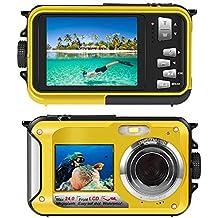 Underwater Camera Snorkelling 24.0 MP Waterproof Digital Camera Float Full HD 1080P Dual Screen Waterproof Action Camera