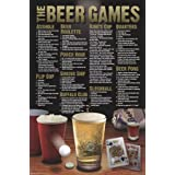 Beer Games College Frat Drinking Alcohol Poster (24 x 36 inches)