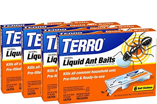 TERRO PreFilled Liquid Ant Killer II Baits, 4-Pack