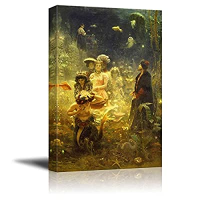Crafted to Perfection, Gorgeous Picture, Sadko in The Underwater Kingdom by Ilya Repin Print Famous Painting Reproduction