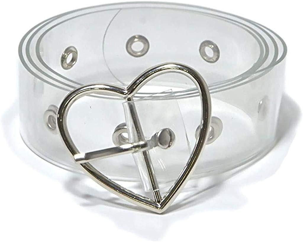 Transparent Belt Waistband Ladies Pin Buckle Clear Design Waist Belt Women Girls
