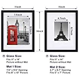 ONE WALL Tempered Glass 11x14 Black Picture Frames