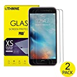 UTHMNE 2-Pack iPhone 7 Screen Protector Glass, 0.3MM Slim And 9H Hardness Bubble Free, Anti-Fingerprint, Oil Stain&Scratch Coating (iPhone 7)