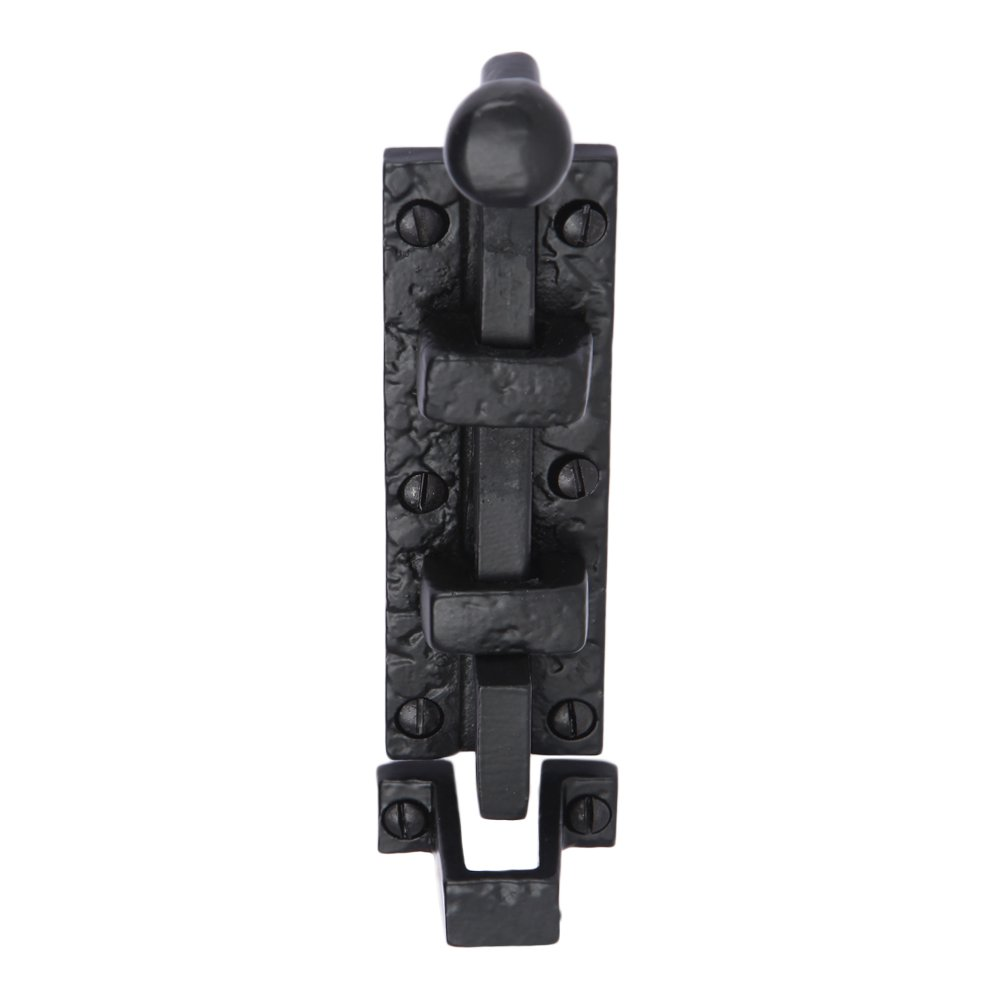 Iron Surface Door Slide Bolt 12 x 2 Inches with 3 Gate Latch Black Powder Coat Finish A29