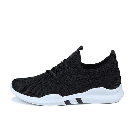 WDDGPZYDX Marca Calzado Hombre Zapatillas Ligeras Zapatillas de Deporte Transpirables y Transpirables para Adultos Calzado de