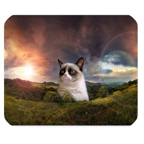 Mystic Zone Grumpy Cat Rectangle Mouse Pad (Black) - MZM00264