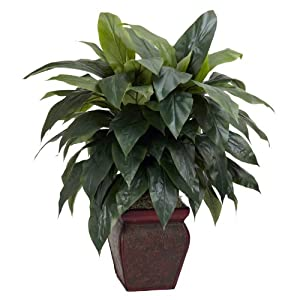 Nearly Natural 6688 Cordyline with Vase Decorative Silk Plant, Green 28