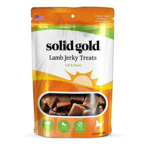 Solid Gold Lamb Jerky Holistic Dog Treat, All Ages and Sizes, 10 Ounces, 1-Pack