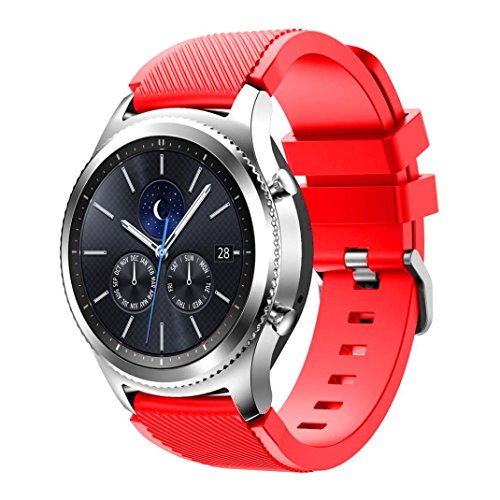 Price comparison product image AutumnFall Gear S3 Classic Sport Watch Band, New Fashion Sports Silicone Bracelet Strap Band For Samsung Gear S3 Classic (Red)
