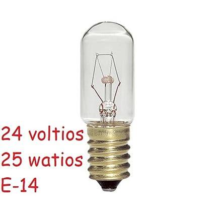 Bombilla tubular 25w 24v E-14 24 voltios