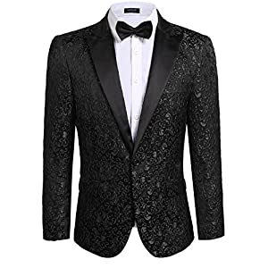 Best Epic Trends 51FmxbZ9guL._SS300_ COOFANDY Men Floral Blazer Suit Jacket Dinner Party Prom Wedding Stylish Tuxedo